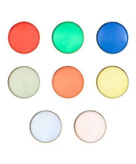 צלחות נייר צבעוניות קטנות - Meri Meri