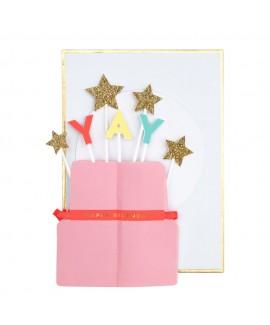כרטיס ברכה בצורת עוגה - Meri Meri