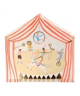צלחות נייר בצורת אוהל קרקס- meri meri