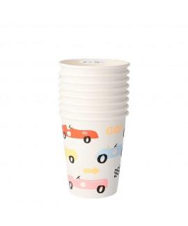 כוסות נייר מכונית מירוץ- meri meri