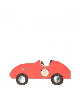 מפיות בצורת מכונית מירוץ- meri meri