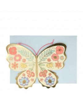 כרטיס ברכה בצורת פרפר - Meri Meri