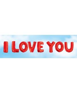 אותיות בלונים I LOVE YOU אדום