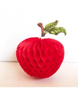 קישוט תפוח אדום מנייר