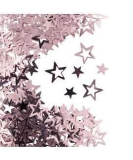 קונפטי כוכבים רוז גולד