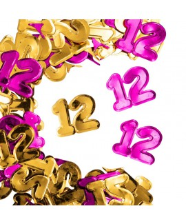 קונפטי 12 ורוד זהב