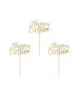 קיסמי happy birthday- זהב