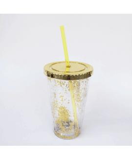 כוס נצנצים זהב