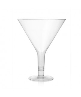 כלי הגשה גדול מפלסטיק בצורת כוס מרטיני