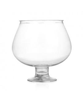 כלי הגשה גדול מפלסטיק בצורת כוס ברנדי