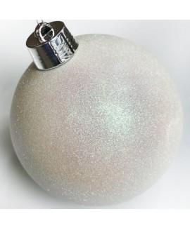 כדור קריסמס ענק- לבן נוצץ