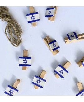 אטבים קטנים דגל ישראל