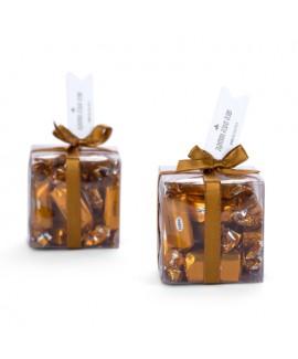 קופסה שקופה עם טופי דבש ראש השנה