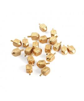 10 סביבוני זהב קטנים לקישוט