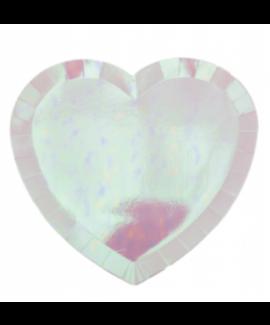 צלחות נייר אולטרה בצורת לב