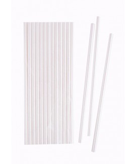 קש נייר אולטרה לבן