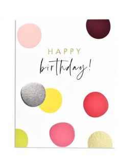 כרטיס ברכה יום הולדת - עיגולים צבעוניים