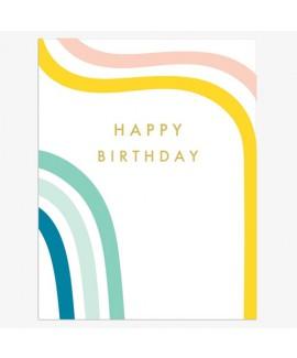 כרטיס ברכה יום הולדת - קווי פסטל
