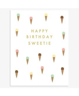 כרטיס ברכה יום הולדת - גלידות