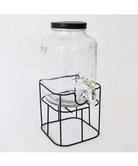 מתקן שתיה זכוכית עם ברז