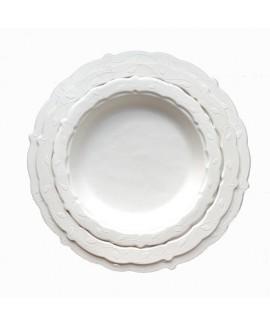 צלחות מעוטרות בינוניות מקנה סוכר