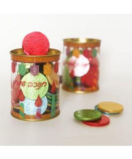 מארז מטבעות שוקולד בקופת פלסטיק