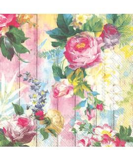 מפיות פרחים פסטל