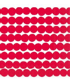 מפיות נקודות אדומות רקע לבן