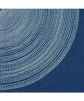 מפיות כחולות בעיטור נקודות לבנות