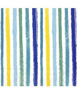 מפיות פסים גווני כחול צהוב