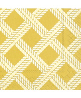 מפיות חבלים רקע צהוב