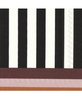 מפיות פסים שחור לבן וצבעוני