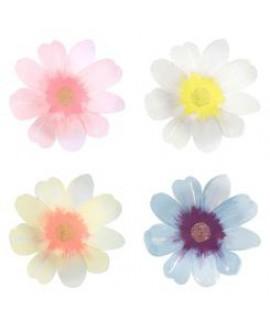 צלחות נייר פרח הדייזי גדולות מבית Meri Meri