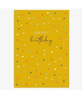 כרטיס ברכה יום הולדת - נקודות
