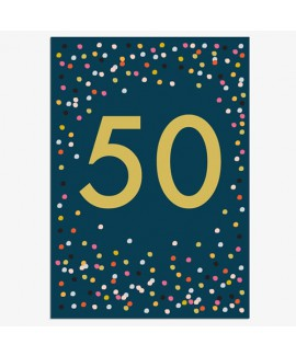 כרטיס ברכה יום הולדת - 50
