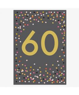 כרטיס ברכה יום הולדת - 60