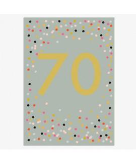כרטיס ברכה יום הולדת - 70