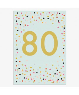 כרטיס ברכה יום הולדת - 80