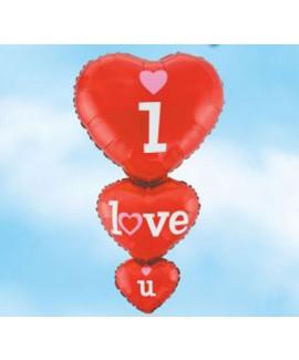 בלון הליום לב I LOVE YOU