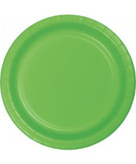 צלחות נייר גדולות ירוק בהיר