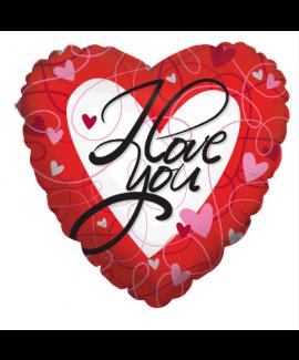 בלון לב I Love You