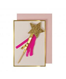 מיני כרטיס שרביט זהב - Meri Meri