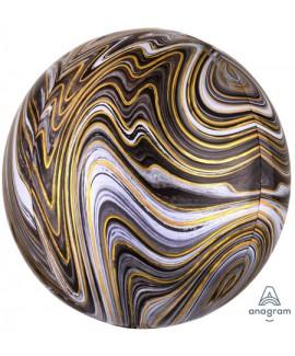בלון הליום כדור שיש שחור זהב לבן