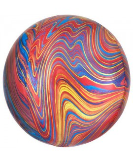 בלון הליום כדור שיש אדום כחול צהוב