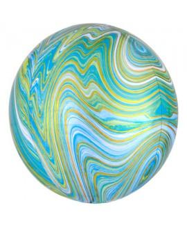 בלון הליום כדור שיש טורקיז מנטה