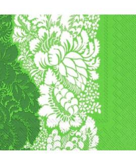 מפיות פרחוני ירוק