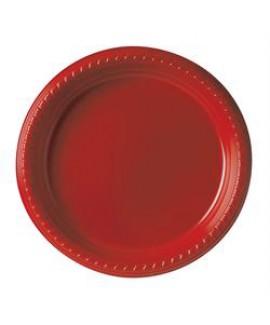 צלחת אדומה בינונית