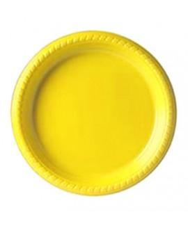 צלחת צהובה בינונית