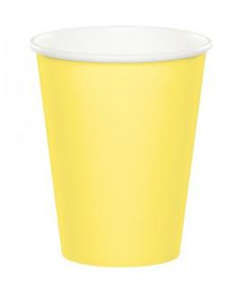 כוסות נייר צהוב מימוזה
