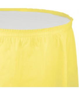 חצאית לשולחן צהוב מימוזה